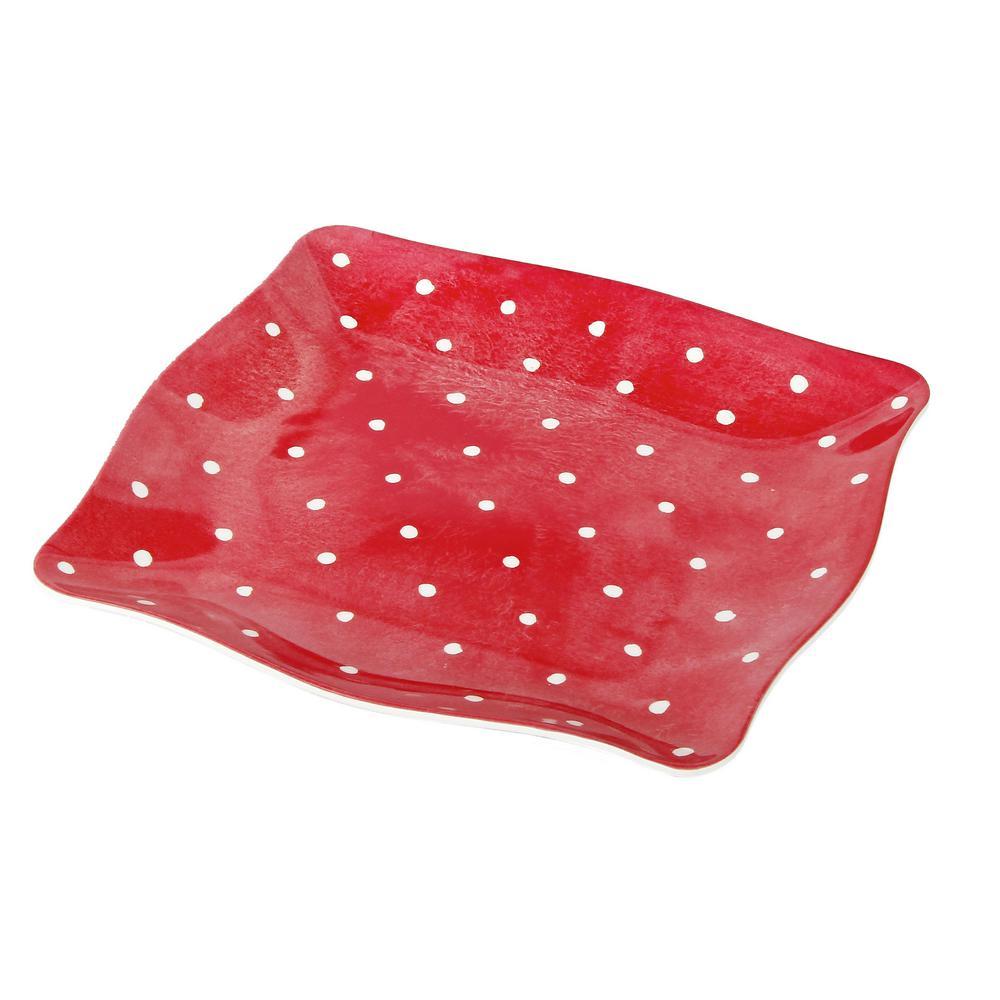 Pallini Red Dinner Plate (Set of 4)