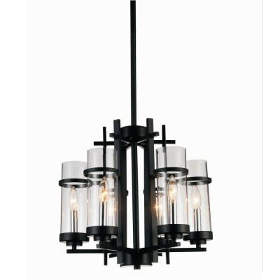 Sierra 6-Light Black Chandelier