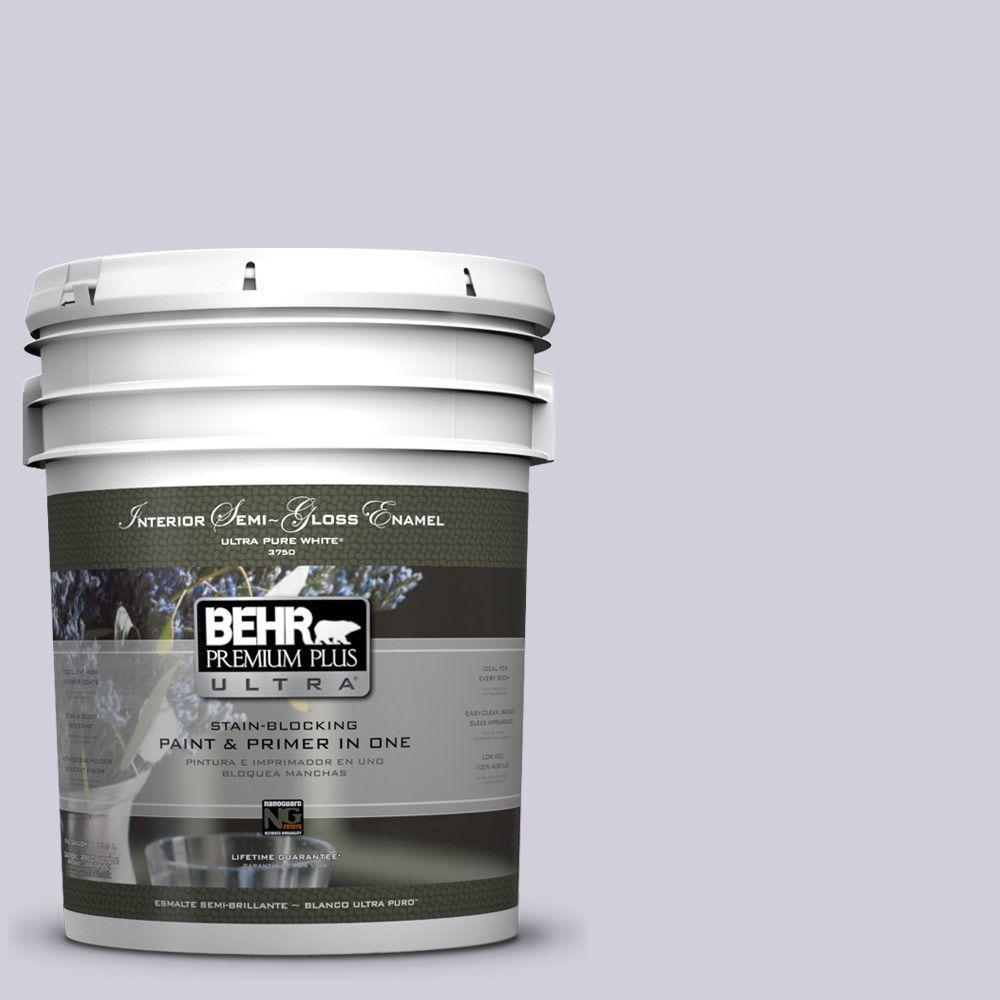 BEHR Premium Plus Ultra 5-gal. #660E-2 Purple Essence Semi-Gloss Enamel Interior Paint