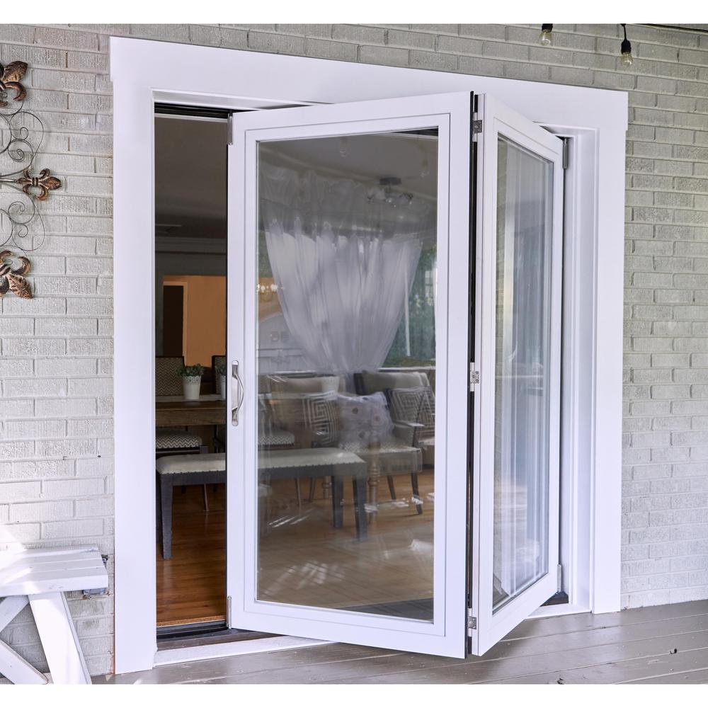 Jeld Wen 72 In X 80 In Primed Fiberglass Right Hand Full Lite F 2500 2 Panel Folding Patio Door Kit Thdjw235200002 The Home Depot