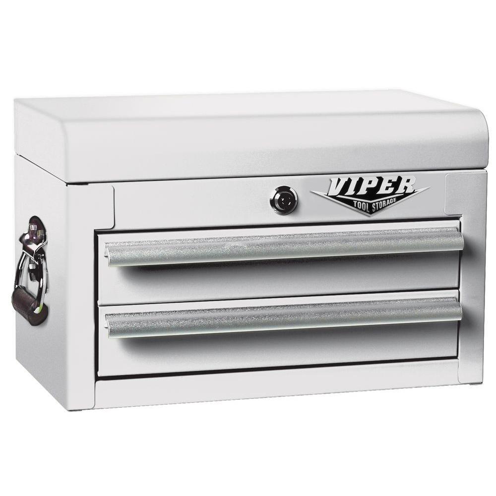 Viper Tool Storage 18 in. 2-Drawer Mini Chest, White
