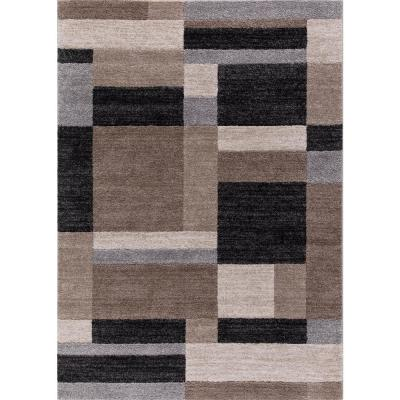 Bazaar Squares Multicolor7 ft. 10 in. x 9 ft. 10 in. Block Design Area Rug
