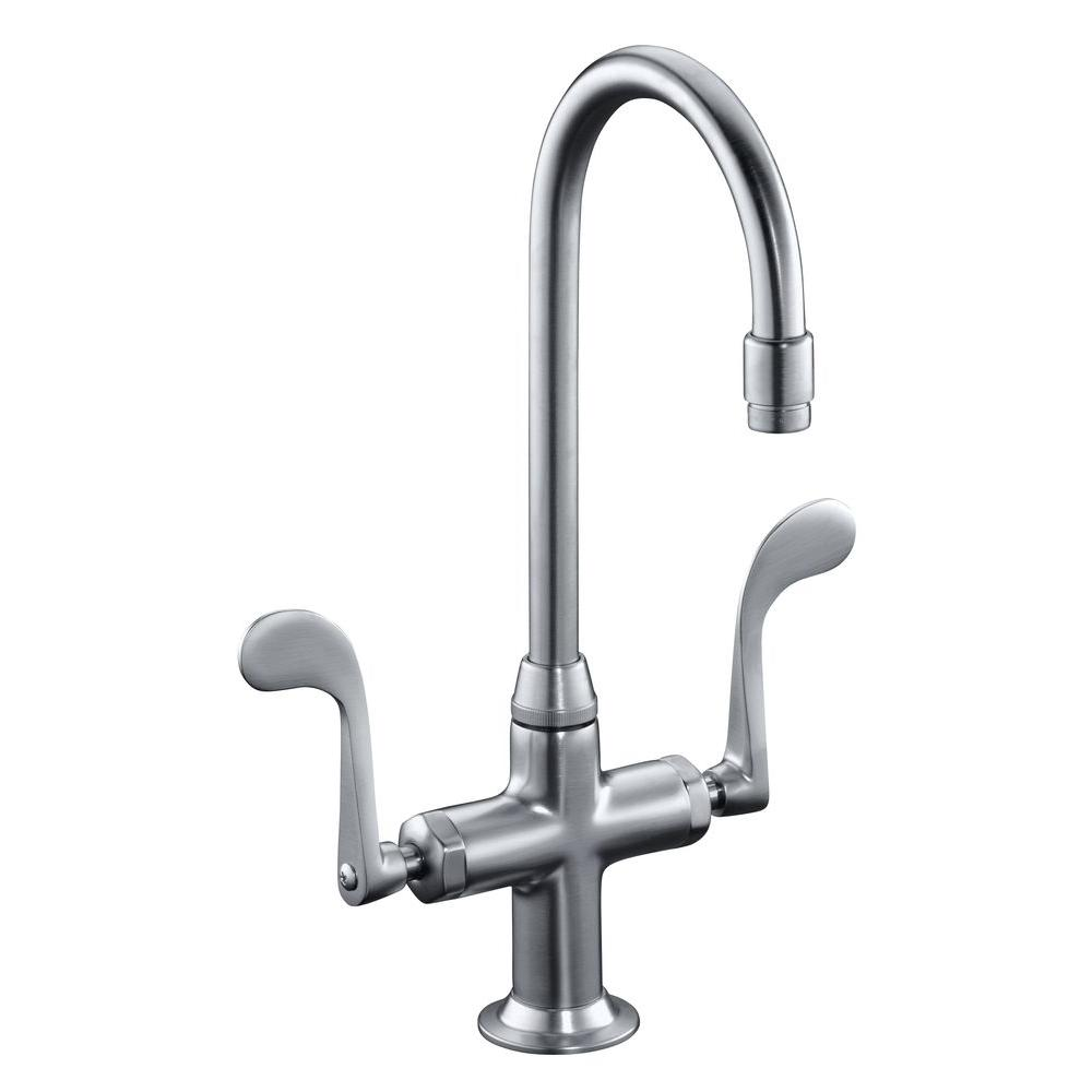 KOHLER Essex 1 or 3-Hole 2-Handle Bar Faucet in Vibrant Stainless