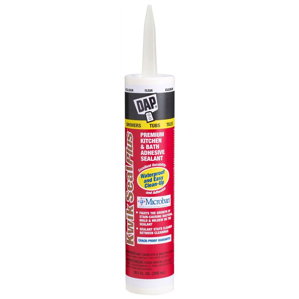 DAP Kwik Seal Plus 10.1 oz. Clear Kitchen and Bath Adhesive Caulk ...