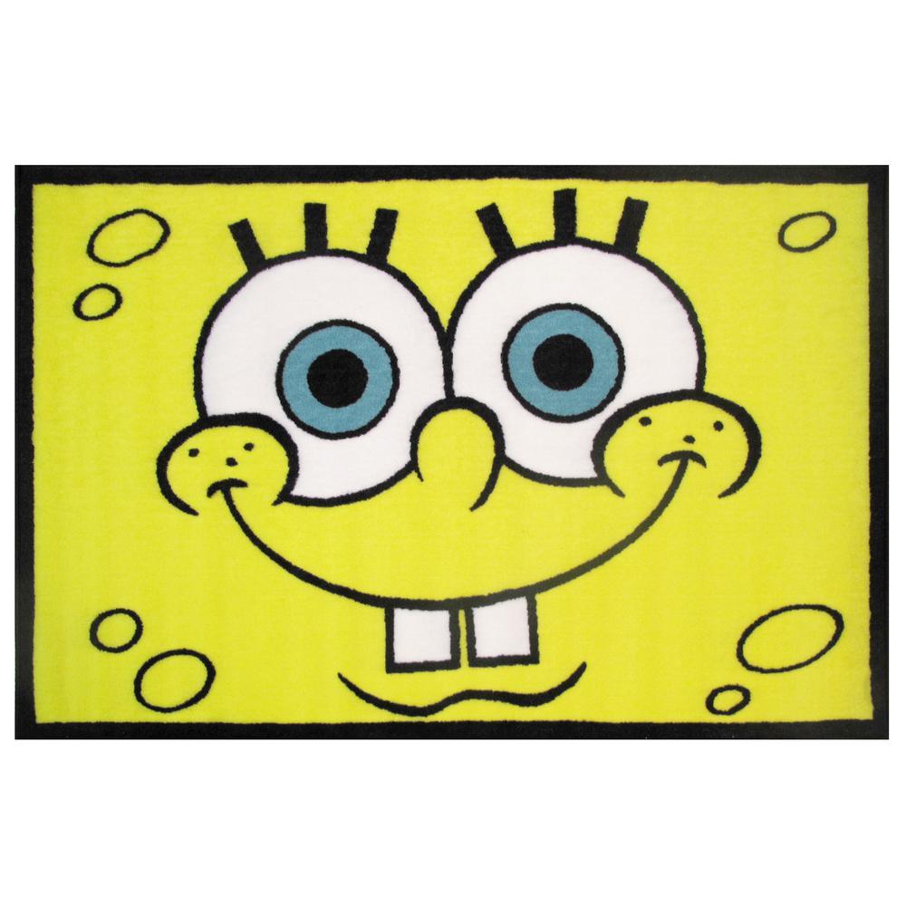 Fun Rugs Nickelodeon SpongeBob Head