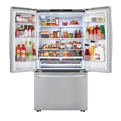 23 cu. ft. Counter Depth 3-Door French Door Refrigerator in PrintProof Stainless Steel