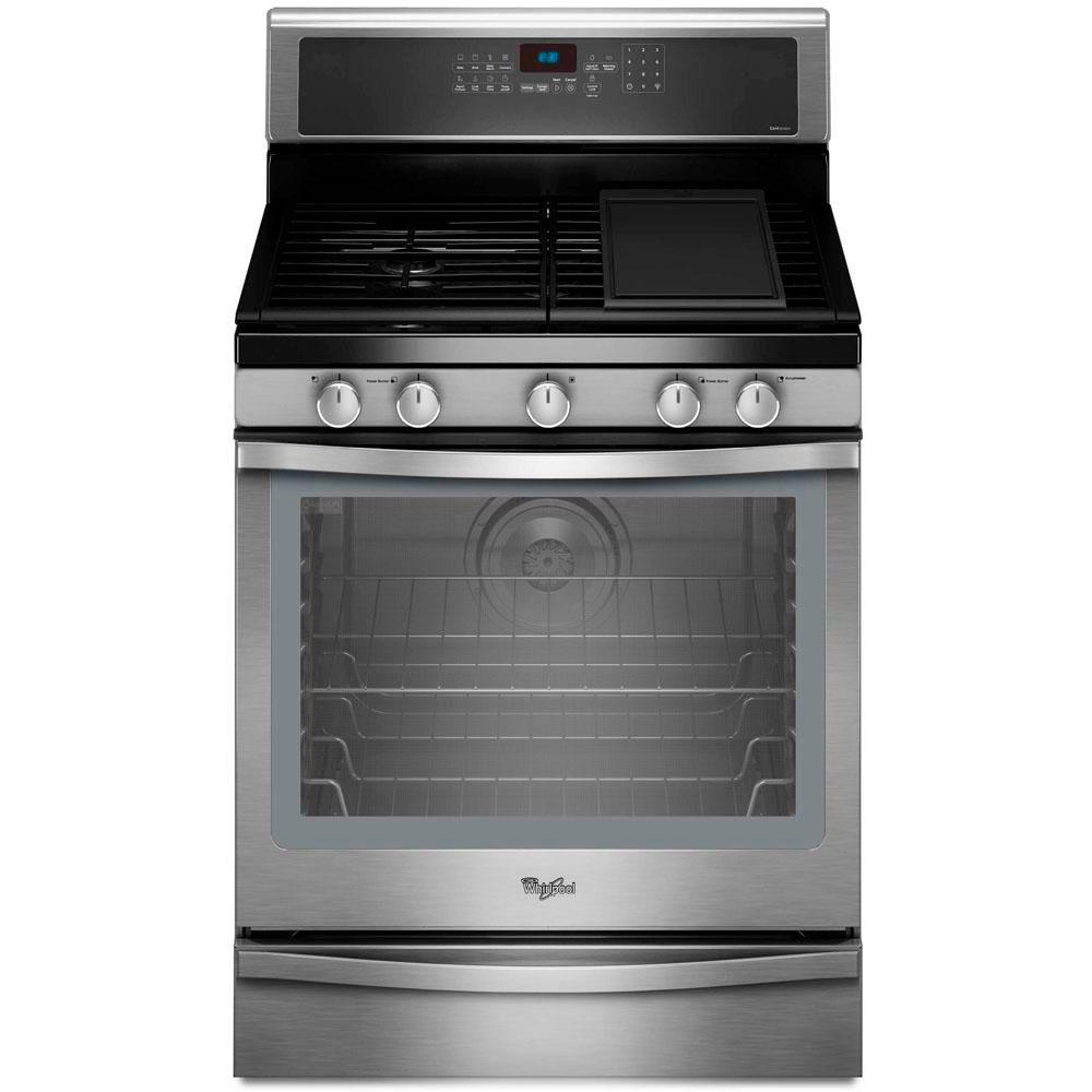 Whirlpool Gold 5.8 cu. ft. Gas Range with Self-Cleaning Convection Oven in Stainless Steel