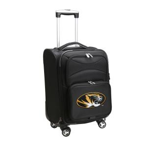 NCAA Missouri Black 21 in. Carry-On Softside Spinner Suitcase