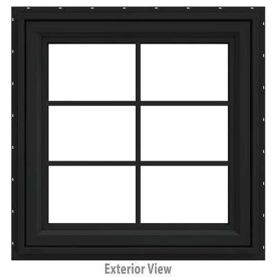 30 in. x 36 in. V-4500 Series Bronze FiniShield Vinyl Awning Window with Colonial Grids/Grilles