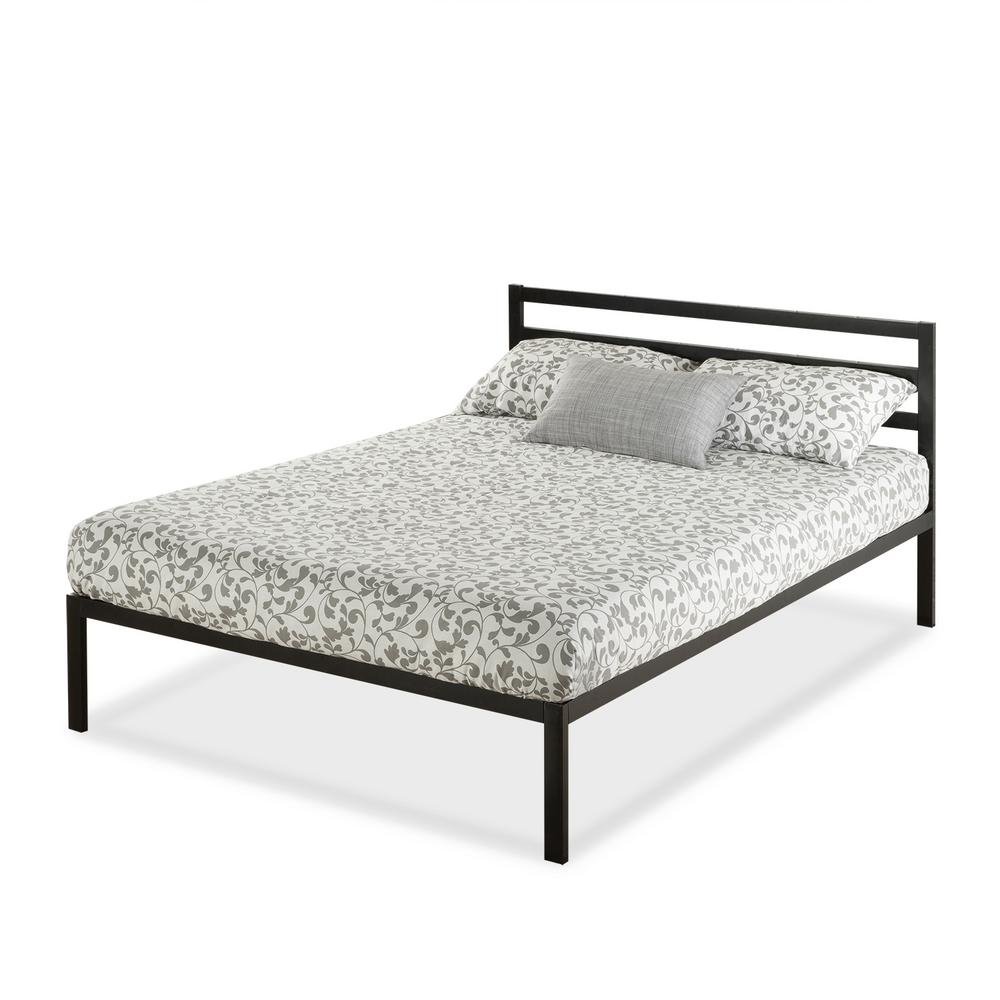 Zinus Mia Steel 1500h Platform Bed Frame Queen Hd Asmph 15q The