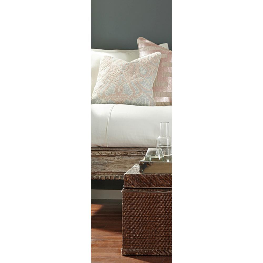 Verona Blush 18 in. x 18 in. Square Cotton Pattern Decorative Pillow