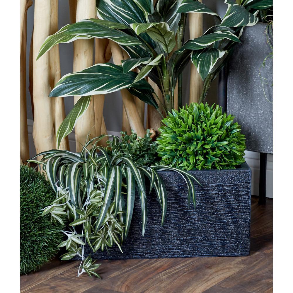Black Fiber Clay Rectangular Planters (Set of 3)
