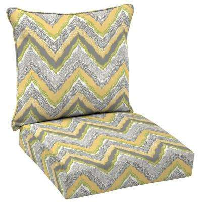 Seville Welted 2-Piece Deep Seating Outdoor Lounge Chair Cushion Set