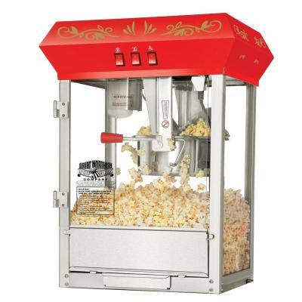 Great Northern-Foundation 8 oz. Red Countertop Popcorn Machine