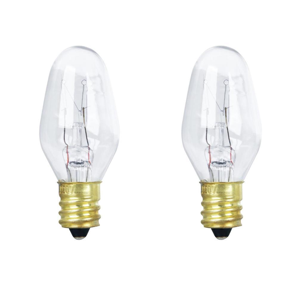 10-Watt Soft White (2700K) C7 Candelabra E12 Base Dimmable Incandescent Appliance Light Bulb (2-Pack)