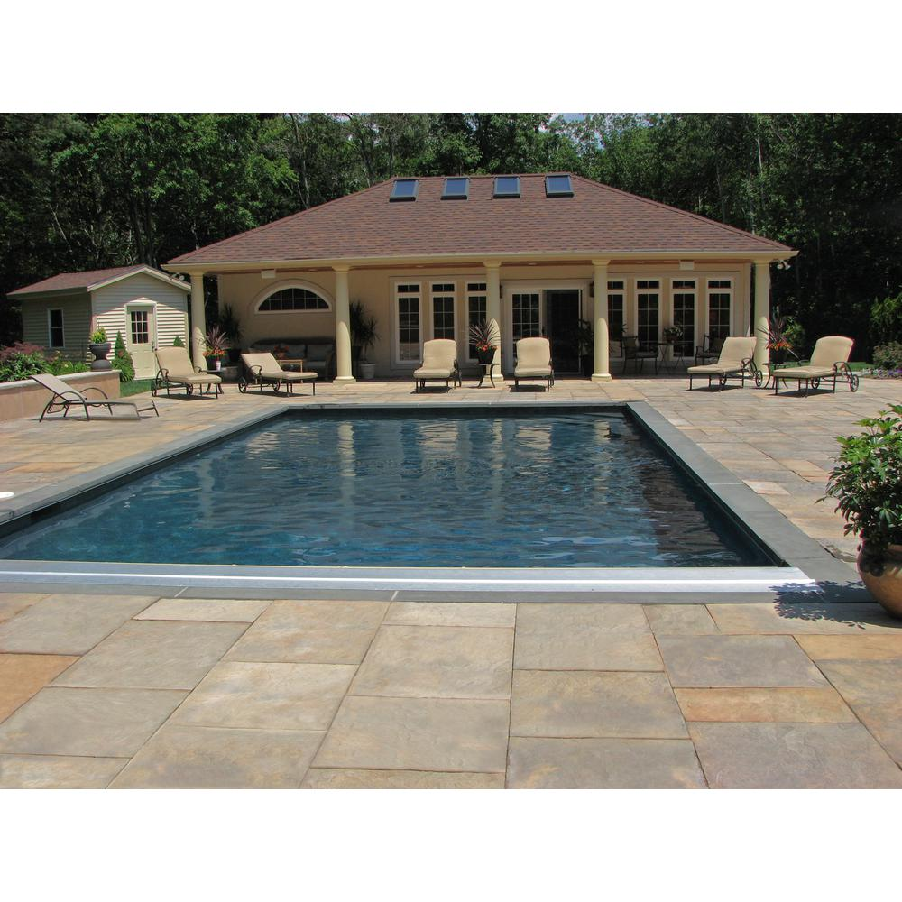 Nantucket Pavers Patio On A Pallet 10 Ft X 10 Ft Concrete Tan Variegated Basket Weave Yorkstone Paver 37 Pieces 100 Sq Ft 31034 The Home Depot