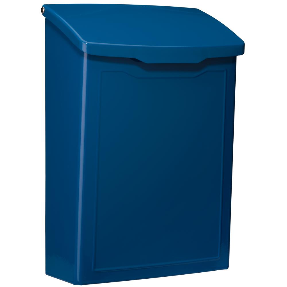 Blue Wall Mount Mailboxes Residential Mailboxes The Home Depot