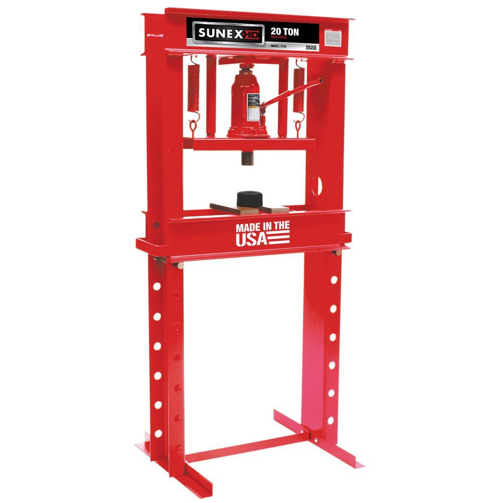 20-Ton Manual Shop Press