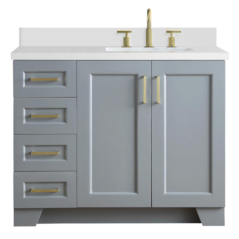 D Bath Vanity In Grey With