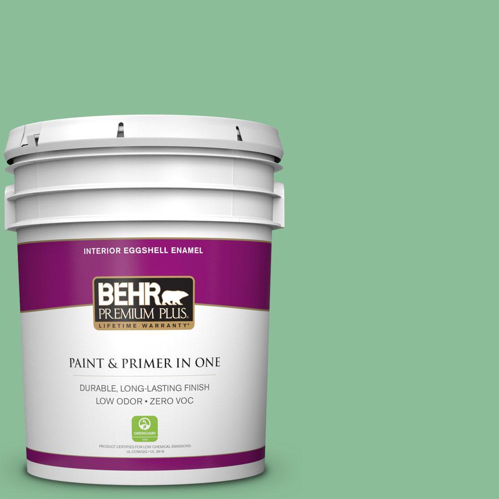 BEHR Premium Plus 5-gal. #M410-4 Garden Swing Eggshell Enamel Interior Paint