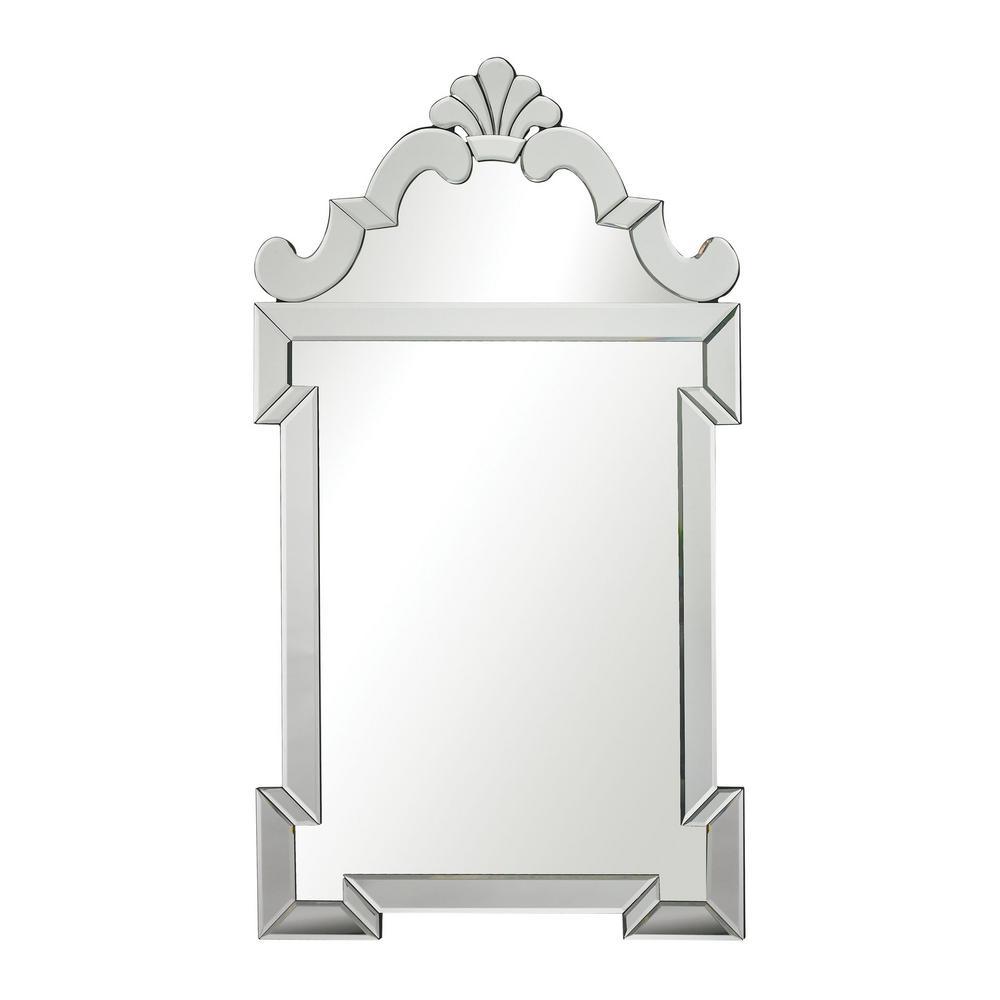 Ludlow 45 in. x 26 in. Mirror Glass Framed Mirror