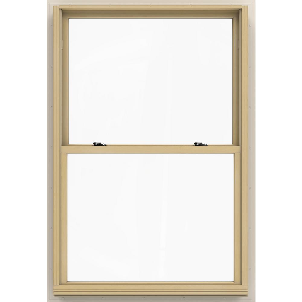 Jeld wen in x 56 5 in w 2500 double hung wood for Window treatments for double hung windows