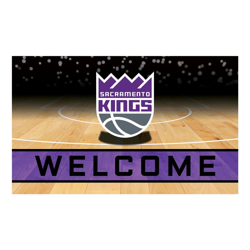 NBA - Sacramento Kings 18 in. x 30 in. Rubber Door Mat