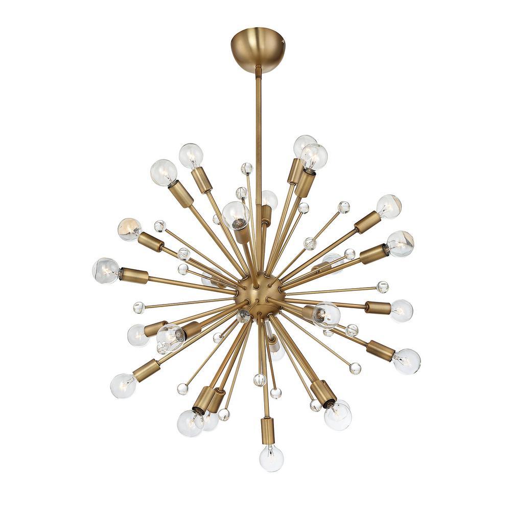 Filament Design 24-Light Warm Brass Chandelier