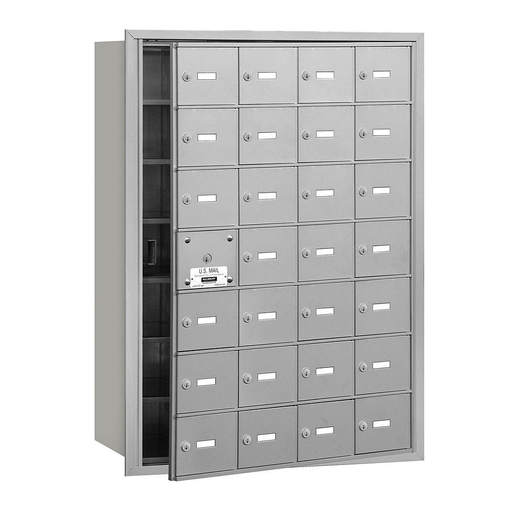Aluminum USPS Access Front Loading 4B Plus Horizontal Mailbox with 28A