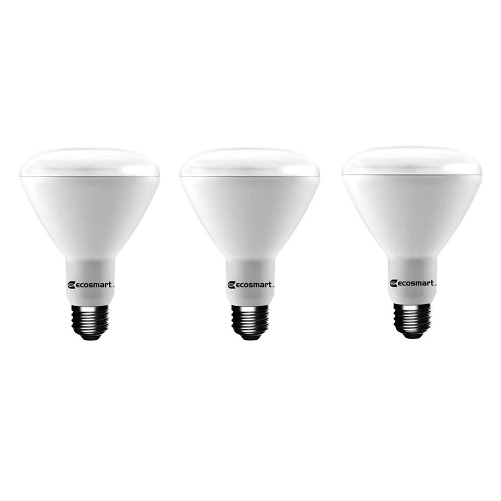 ecosmart 65 watt equivalent br30 dimmable led light bulb bright white 3 pack 1003030502 the. Black Bedroom Furniture Sets. Home Design Ideas