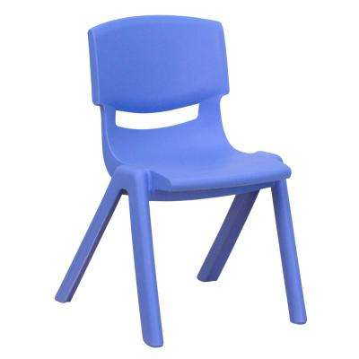 Blue Plastic Stackable School Chair with 12 in. Seat Height