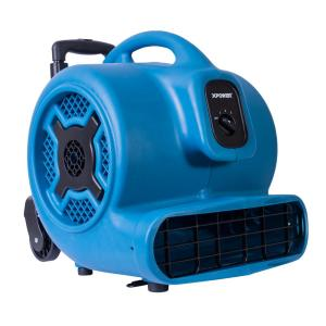 XPOWER 1 HP 3600 CFM 3 Speed Air Mover Carpet Dryer Floor Fan Blower with Telescopic Handle and Wheels by XPOWER