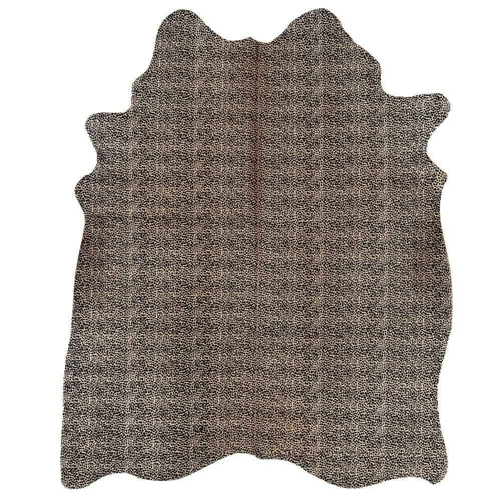 Linon Home Decor Cowhide Cheetah Print 7 ft. x 7 ft. Indoor Area Rug