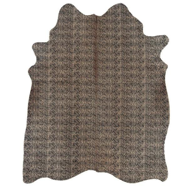 Cowhide Cheetah Print 7 ft. x 7 ft. Indoor Area Rug