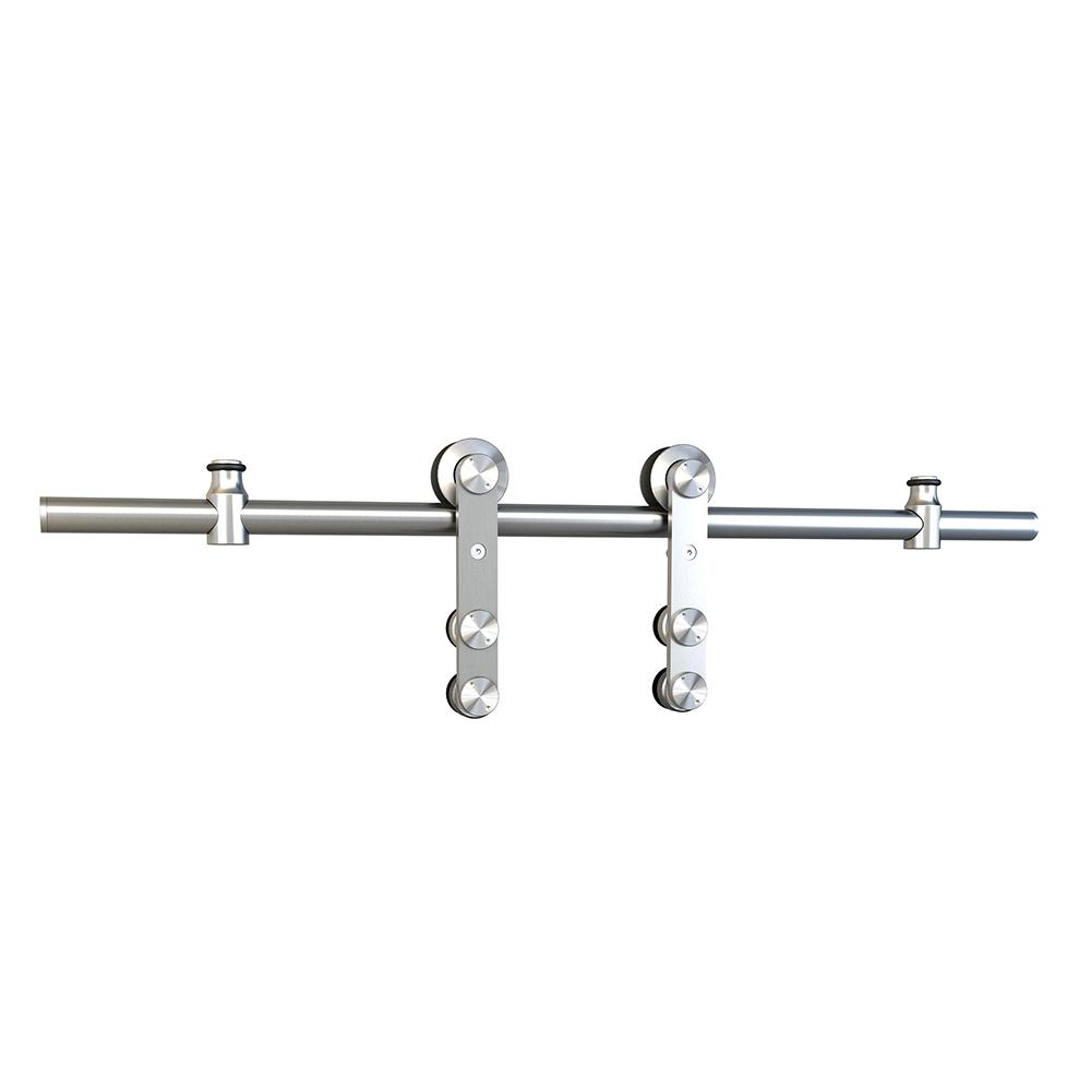 Everbilt stainless steel decorative sliding door hardware for Rolling barn door hardware