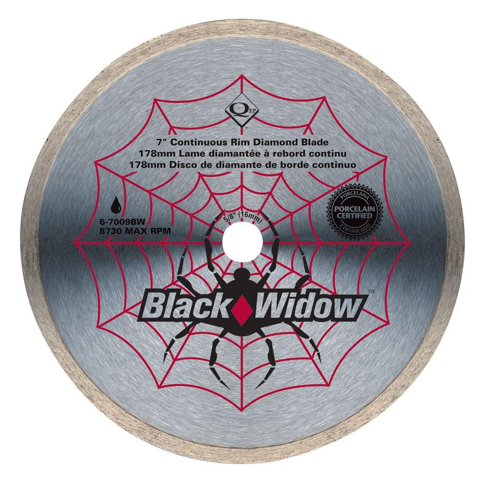 QEP 7 in. Black Widow Diamond Blade for Wet Cutting Porcelain and Ceramic Tile-DISCONTINUED