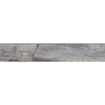 Pietra Bernini Carbone 3 in. x 18 in. Polished Bullnose Porcelain Wall Tile (15 lin. ft. / case)