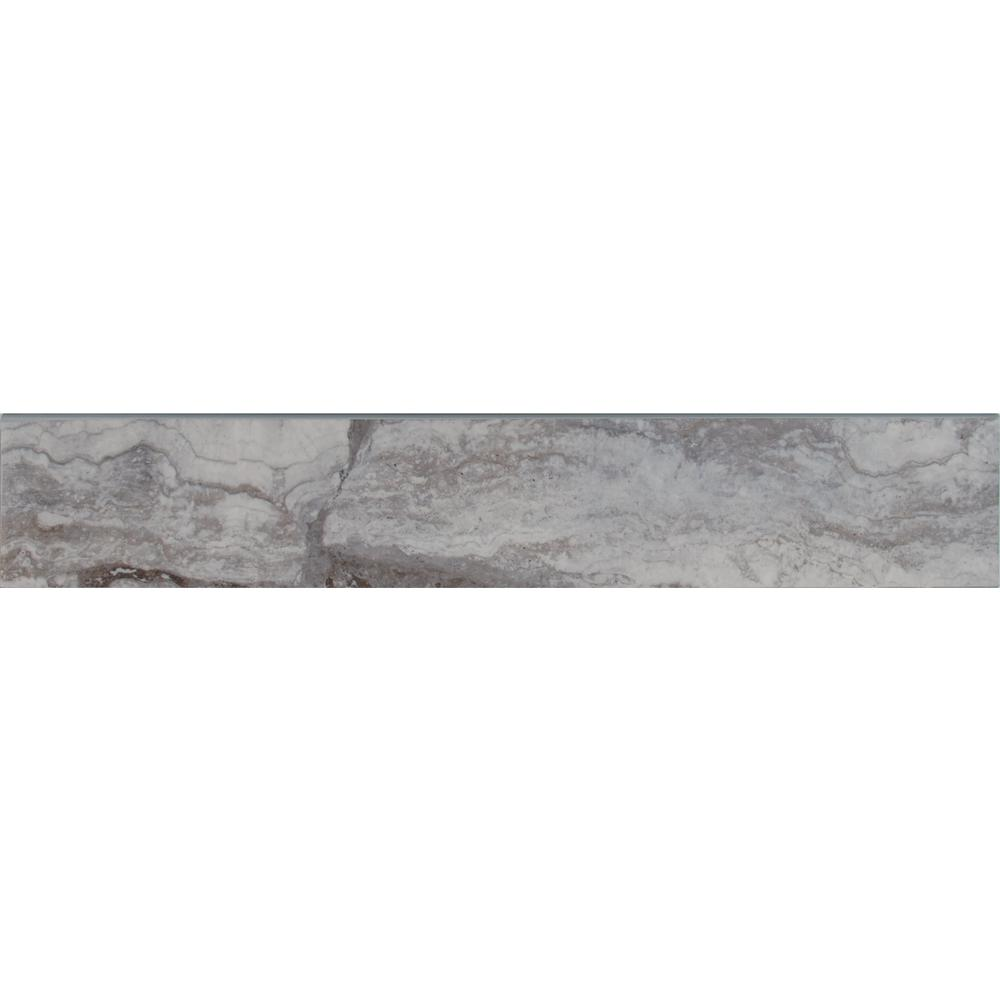 Msi Pietra Bernini Carbone 3 In X 18 Polished Bullnose Porcelain Wall Tile