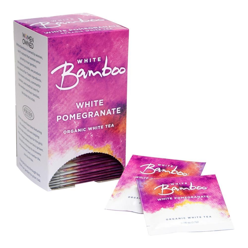 Tea Organic White Pomegrante Teabag (6 Boxes of 25)