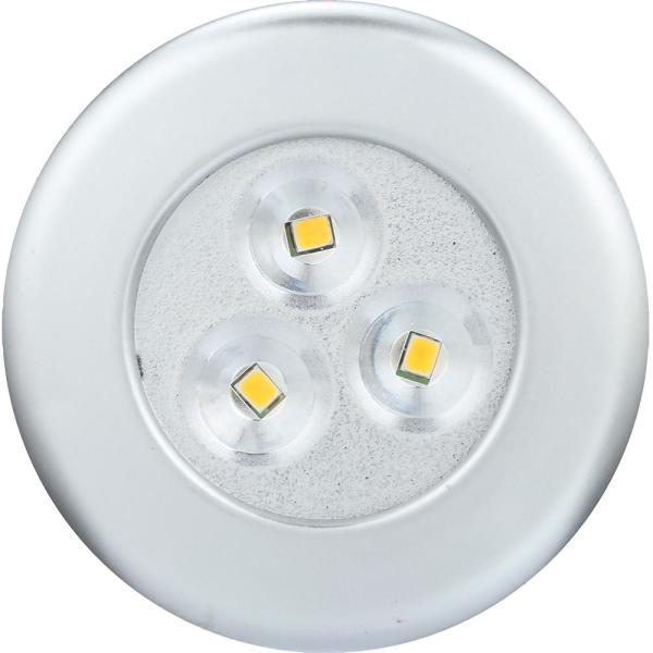 Lite N UP Battery Powered LED White Puck Light (2-Pack)