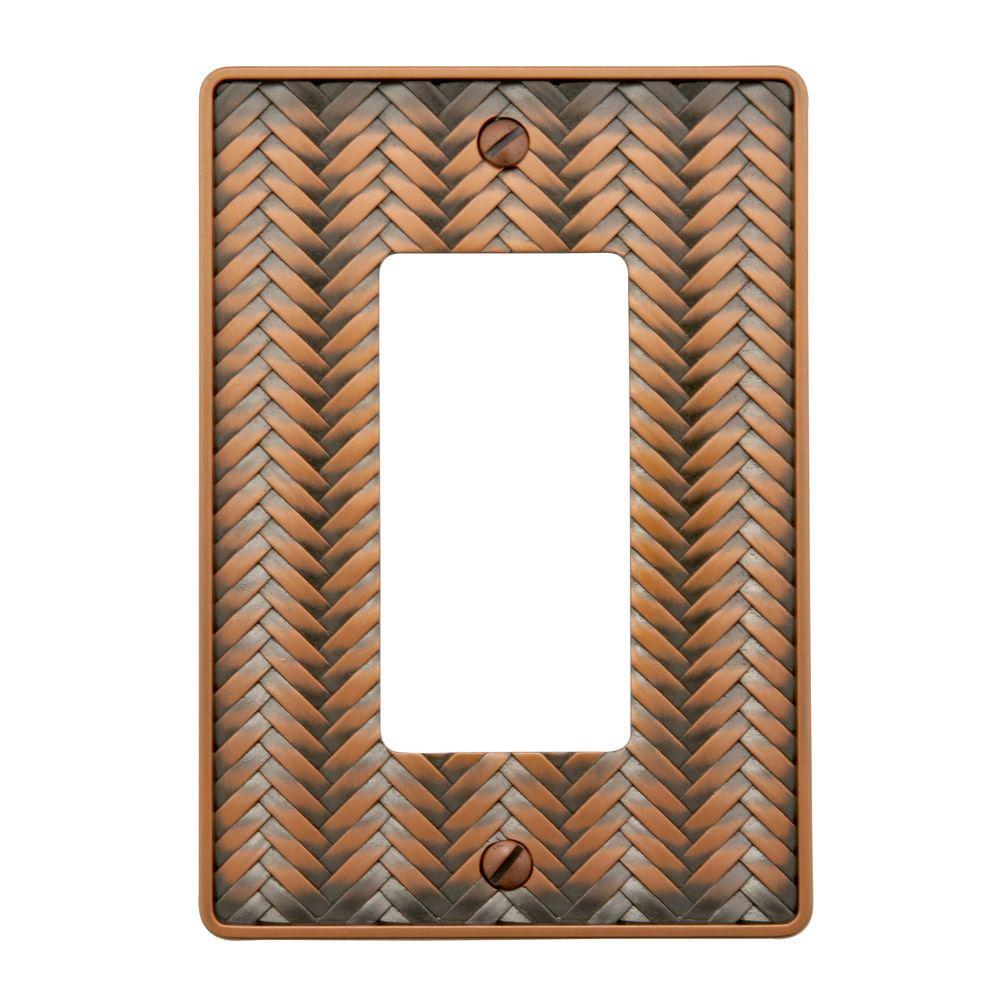 Copper 1-Gang Decorator/Rocker Wall Plate