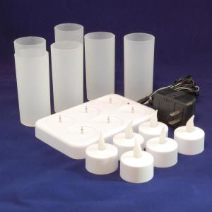Lumabase Rechargeable Flameless Candle (Set of 6) by Lumabase