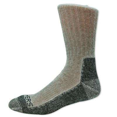 Men Shoe Size 6-12.5 Charcoal Poly/Rubber Sock (2-Pack)