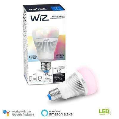 60W Equivalent A19 Colors and Tunable White Wi-Fi Connected Smart LED Light Bulb