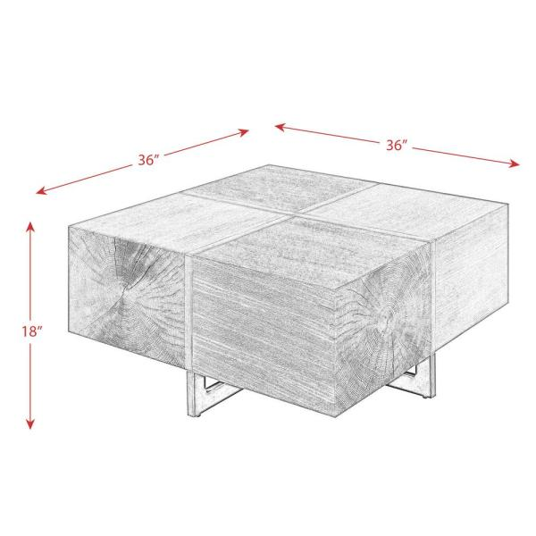 Picket House Furnishings Elliot Cherry Square Coffee Table