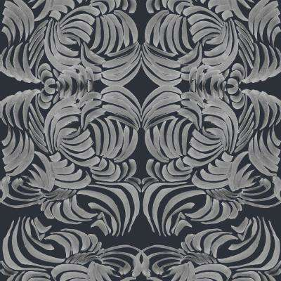 ABRA Collection Silver Night Flora Removable and Repositionable Wallpaper