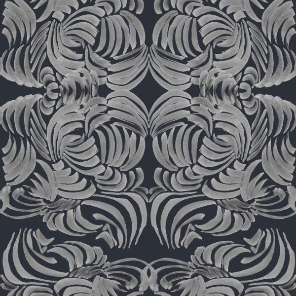 Mitchell Black ABRA Collection Silver Night Flora Removable and Repositionable