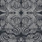 Mitchell Black ABRA Collection Silver Night Flora Removable and Repositionable Wallpaper