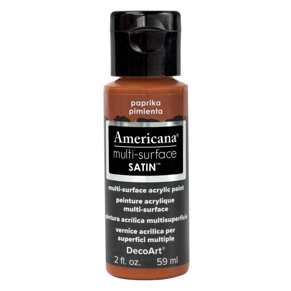 Americana 2 oz. Paprika Satin Multi-Surface Acrylic Paint