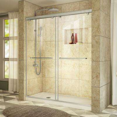 Charisma 36 in. x 60 in. x 78.75 in. Shower Kit in Chrome with Left Drain Shower Base